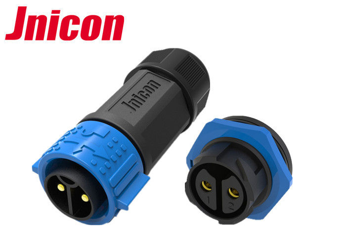 2 Pin Waterproof Circular Connectors , 50A 500V Circular Cable Connectors