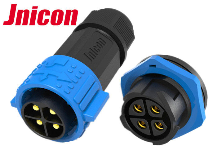 Rear Panel Mounting Waterproof Plug Connectors , M25 4 Pin Waterproof XLR Connectors