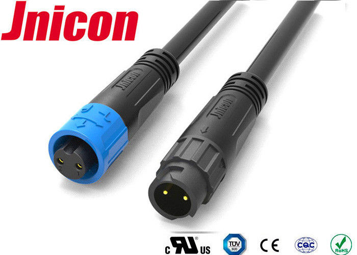 M12 IP67 Waterproof Audio Connector 3 Pin PA66 Material For Power Application